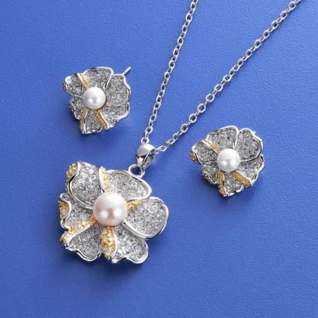 CZ Pearl Jewelry Sets