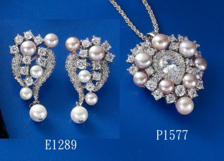 CZ With Pearl Jewelry Sets
